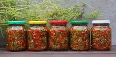 ételízesítő  házilag--tartósítószer nélkül----forrás: Pickles, Salsa, Food And Drink, Jar, Vegetables, Recipes, House, Salsa Music, Restaurant Salsa