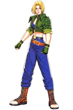 Blue Mary from Real Bout Fatal Fury Special.