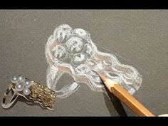 From the design to the realization, 18kt gold ring, drawing of jellyfish. - YouTube
