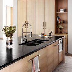 Thanks for sharing this modern home's kitchen with #DMmodernhomes, @hillsandgrant! Loving that luxe soapstone counter. \\\ Architect: @sagemodern, design: @hillsandgrant, builder: @methodhomes