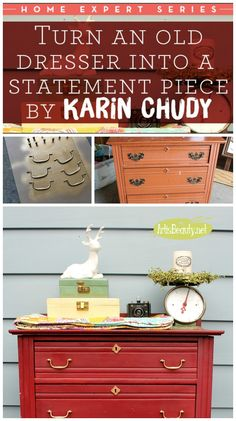 ART IS BEAUTY: Turn an old dresser into a BOLD statement piece