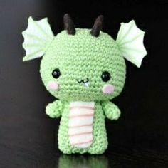 List of crochet dragon patterns and amigurumi dragon patterns. Make a crochet dragon toy, crochet dragon applique, crochet baby dragon, crochet...
