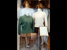 Cashmere round neck sweater, 1960s, and a cardigan with a fold-over collar and breast pocket detail, 1960s. courtesy of HM Queen Elizabeth II © Neil Hanna. #Pringle200years #Knitwear #Fashion http://www.nms.ac.uk/fullyfashioned