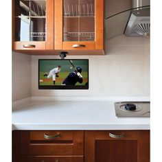 Clarus TOP-131KTV Under Cabinet 13 inch Swivel LCD Kitchen TV with ...