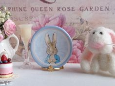 Peter Rabbit in Light Blue Dollhouse Plate by Twelvetimesmoreteeny, €2.80