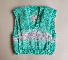 Marianna's Lazy Daisy Days: Melika self-patterning yarn baby vest top