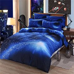 Comfortable cotton fabric There is no comforter inside the Duvet.There is a zipper on the duvet cover, you can put your own comforter or quilt in Reactive printing,high thread count
