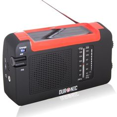 Duronic Hybrid Radio - Wind-Up, Solar & Rechargeable AM/FM Radio SAVE 60% NOW £11.99