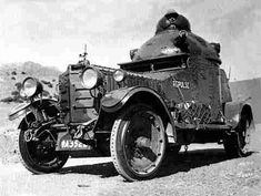 Crossley IGA1 armoured car. An Indian Armoured Car with Vickers body showing the solid tyres used.