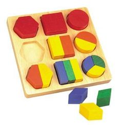 Shape Sorter Board by Callie's Corner. $15.99. Introduction of puzzles and to Fractions. Nine Different Puzzles one one Puzzle Board!. Develops Color Discrimination and Fine Motor Skills. Chunky, easy to grasp puzzle pieces. Montessori orientated. Not only are these wooden puzzles excellent for little hands because of the chunky pieces, they also provide a nice introduction to fractions. Each has nine different puzzles on one puzzle board! Children will enjoy learning ...