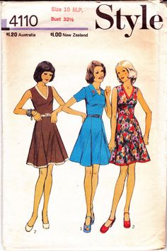 1970s Vintage Sewing Pattern Style 4110 by allthepreciousthings, $10.00