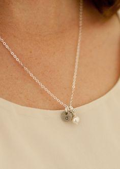 teenie tiny initials necklace