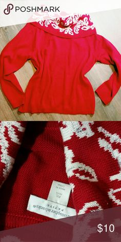 Christmas sweater Super cute womens piece with no damage! Box 10 Christopher & Banks Sweaters Cowl & Turtlenecks