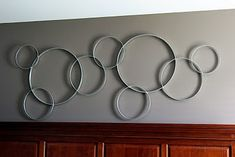Pottery Barn knock-off Circles Wall Decor. Future purchase for my living room.