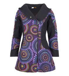 Weiteres - Mantel mit Spiralenmuster Farbe Lila, Size/Größe 3 - ein Designerstück von Kunstundmagie bei DaWanda