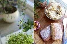 Veganmisjonen: Smørepålegg med hvite bønner og soltørket tomat Plant Based Whole Foods, Baked Potato, Feta, Whole Food Recipes, Mashed Potatoes, Banana Bread, Veggies, Cheese, Baking