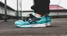 Nice on foot shots of the ASICS Gel Lyte V Turquoise Miami Pack. Coming tomorrow.  http://ift.tt/20pkNi8