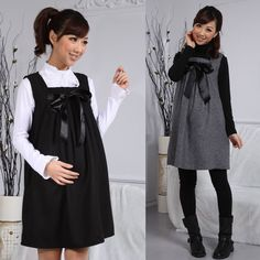 534885daec8 Hot Selling Pregnant Women Woolen Doll Dresses - maybe no bow but I like  the shape. Alexandra Papas · Maternity Clothes