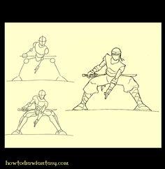How to Draw Fantasy: How to draw a ninja 2
