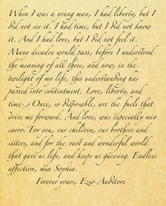 Final Words From Ezio Auditore to Sophia ~ Assassin's Creed: Embers