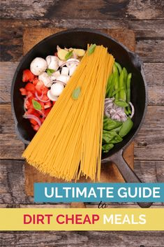 Wondering how to cut your grocery budget? Here's the ultimate guide to build delicious meals on a small budget! Bonus printable included. Dirt Cheap Meals, Cheap Dinners, Cheap Meal Plans, Greek Seasoning, One Pot Dishes, Drying Pasta, Side Dish Recipes, Dinner Recipes