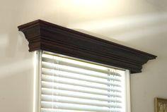 Wooden cornice (vs. fabric valance) for window treatments