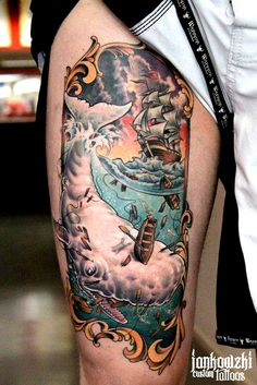 thievinggenius:  Tattoo done byPawel Jankowzki.