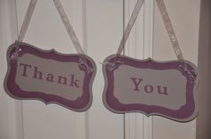 Double sided Bride/Groom and Thank/You banner signs for photos and weddings available at https://www.facebook.com/ajs.craft.creations