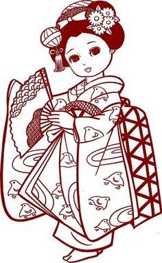 2_VINTAGE_JAPANASE_COLORING_BOOK_COLORIAGE_ANCIEN_JAPON_MALBUCH_COLOREAR