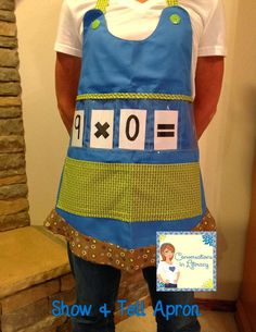 Show and Tell Apron:  Cute and Fun way to work with words and math skills!