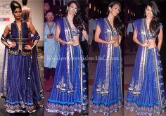 Royal blue she loves- Anita Dongre. Description by Mahua Roy Chowdhury