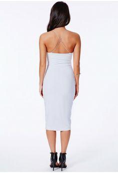 Sienna Slinky Crossover Back Midi Dress - Midi Dresses - Dresses - Missguided