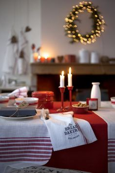 Modern Swedish take on traditional countryside look for Christmas