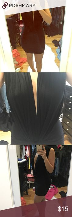 Deep V black Akira club dress ! Deep V Akira club dress! AKIRA Dresses Mini