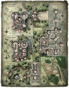 Floshin Manor by Mike Schley, via Behance: