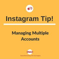 Instagram Tip: Managing Multiple Accounts You are no longer limited to a single Instagram account yes you can have multiple accounts! Instagram added the much-needed ability to manage multiple accounts in February 2016 and you can now manage up to 5 accounts at a time!  To add an additional account simply go to your profile settings page and tap the gear icon or the three dots in the upper-right corner of the screen. Scroll down and select the Add Account option and create a unique username…