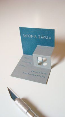 Pop Up Business Card