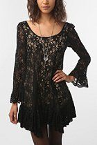 Shumaq Bell Sleeve Lace Shift Dress  #UrbanOutfitters  hopefully this is what i'm going to wear for prom