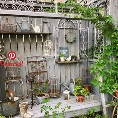 Pin by Julie McCord on Vintage home and garden shoppe Garden Junk, Garden Yard Ideas, Garden Cottage, Garden Projects, Herb Garden, Rustic Gardens, Outdoor Gardens, Shed Decor, Vintage Garden Decor