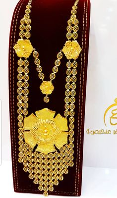 Gold Earrings Designs, Gold Jewellery Design, Necklace Designs, Gold Wedding Jewelry, Gold Jewelry, Gold Necklace, Afghan Clothes, Prom Dresses Long With Sleeves, Long Necklaces