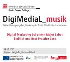 Stephan Steigleder, Director Digital Media der Divison Classics & Jazz bei Universal Music, gibt einen Einblick in die Online Marketingarbeit bei Major Labels mit Best Pratice Case. http://www.digimedial.de/zertifikatskurs