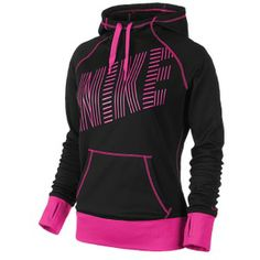 Nike All Time Graphic Hoodie - Women's - Black/Pink Foil