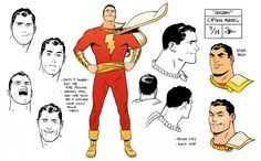 """Convergence: Shazam"" Captain Marvel model sheet design by Evan ""Doc"" Shaner Captain Marvel Shazam, Original Captain Marvel, Shazam Comic, Character Model Sheet, Character Modeling, Comic Character, Character Design, Comic Books Art, Comic Art"