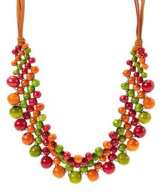Look what I found on #zulily! Orange Beaded Paradisio Necklace by The Beaded Soul #zulilyfinds