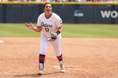 Lauren Haeger pitched a one-hitter and smashed a solo homer in the first inning to lead UF to a 7-2 over Tennessee.