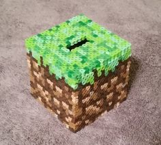 Minecraft Coin Bank Grass Block by GamingCraftsByAddy on Etsy Fun Projects, Minecraft, Grass, Coins, Decorative Boxes, Etsy, Art, Art Background, Rooms