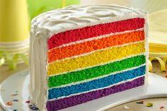 How to make: Rainbow Layer Cake