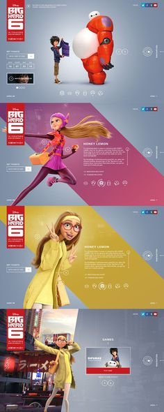Big Hero 6 Web Design by Rolf A. Jensen & Watson