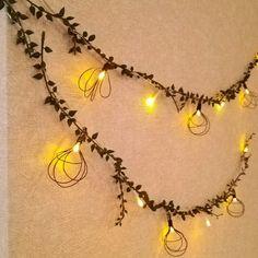100均LEDで壁デコ☆電球風ガーランド|[暮らしニスタ] 暮らしのアイデアがいっぱい♪