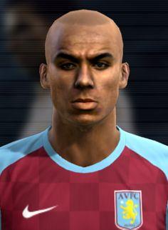 Agbonlahor face for Pro Evolution Soccer 2012